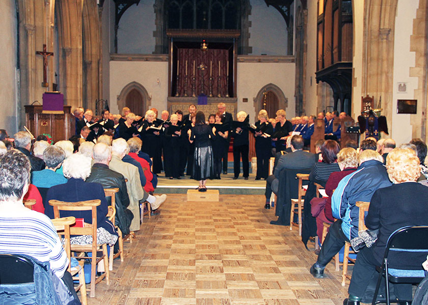 Barry Community Choir at the Three Choirs Concert in Barry
